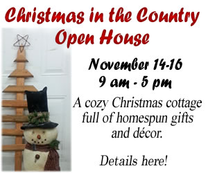 Christmas in the Country Open House - November 14-16, 2014 - Click for details