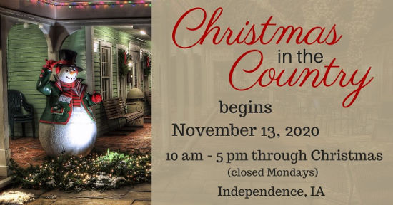Christmas in the Country 2020 begins November 13
