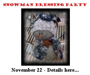 Snowman Dressing Party - November 22, 2014 - Click for details