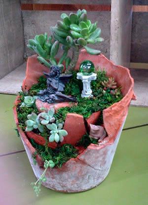 Broken Pot Succulent Garden Workshop