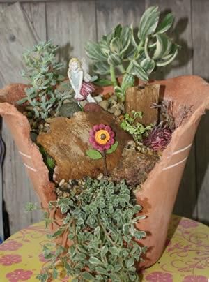 Broken Pot Succulent Garden