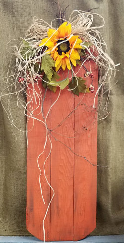 Decorated Wooden Pumpkin