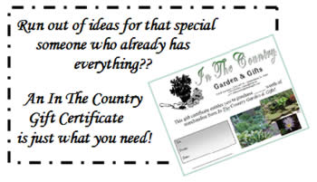 in the country gift certificates available